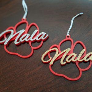christmas-3d-printed-dog-name-ornament-sparkle