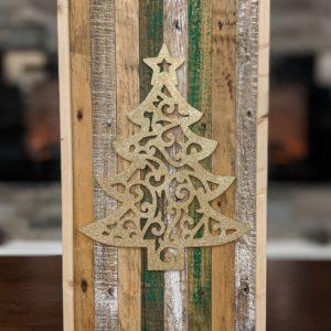 christmas-decor-pallet-gold-sparkle-tree-pine-wall-art-white-green